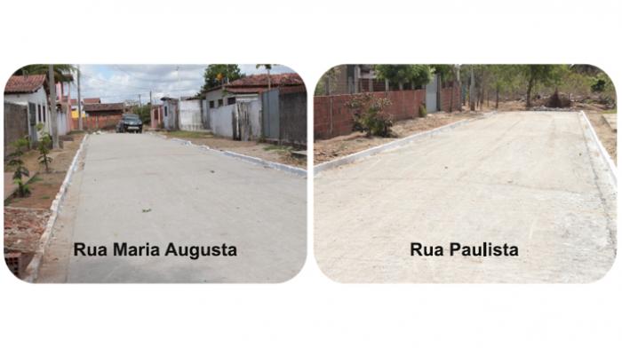 Prefeitura conclui a pavimentação de duas ruas na comunidade de Mazapas