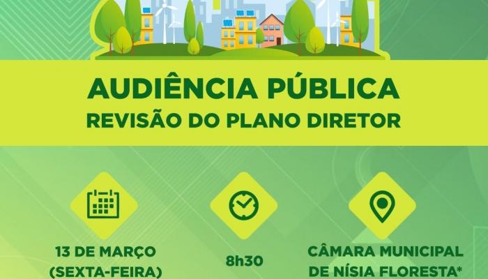 Audiência Pública lançará processo de revisão do Plano Diretor